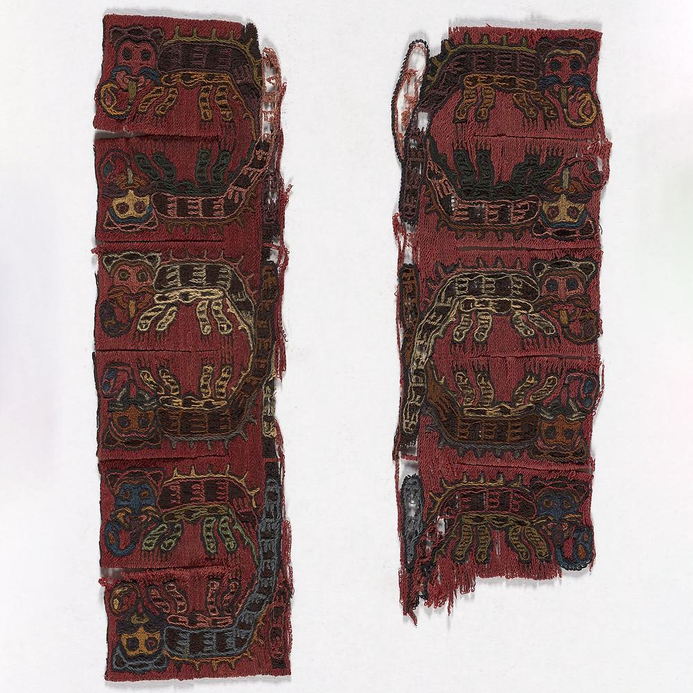 Фрагмент ткани. Наска, 100 г. до н.э. - 200 г. до н.э. Коллекция Art Institute of Chicago.