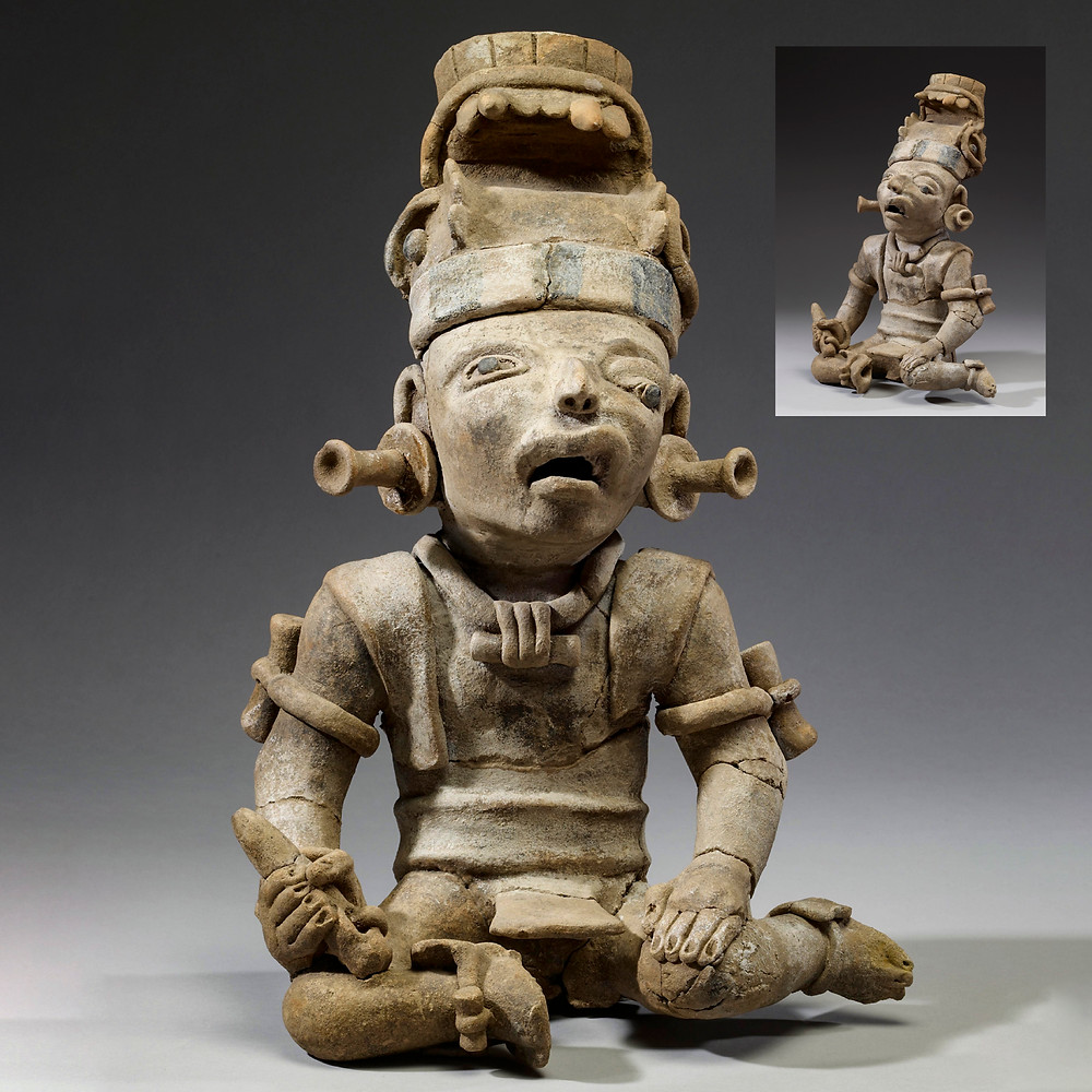 Скульптура воина. Ремохадас, 600-900 гг. н.э. Коллекция The Walters Art Museum, Baltimore.