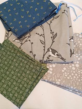 Fabric drawstring gift bag