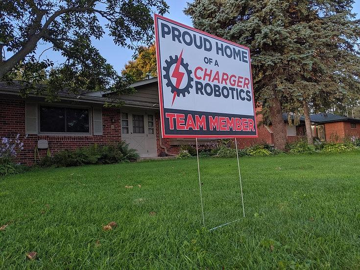 """Charger Robotics Yard Sign (17.75"""" x 23.75"""")"""
