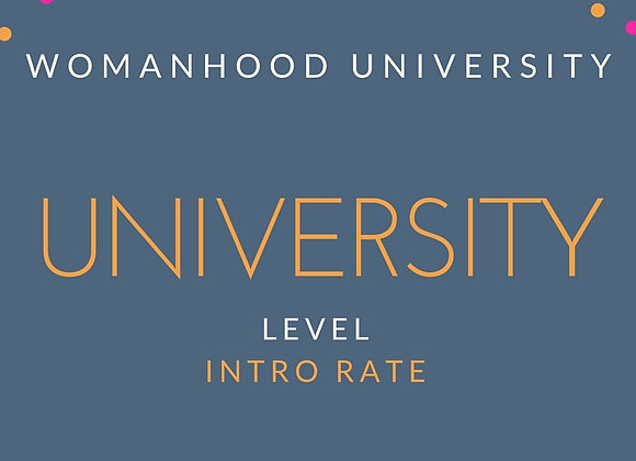Introductory Rate Deposit (University Level)