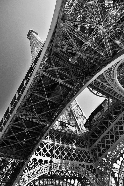 La Tour Eiffel support Alu Dibond 90 x 60 cm série à 57 Exemplaires