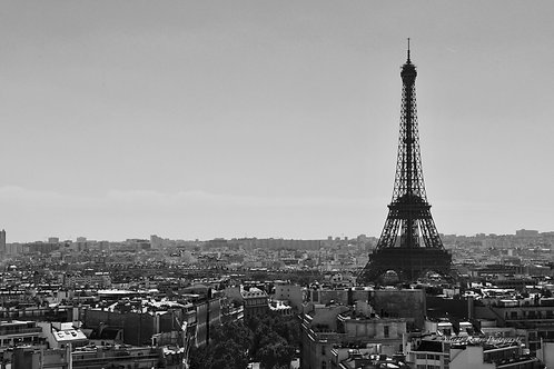Photo Noir et Blanc Paris support Alu Dibond Dimensions 90 x 60 cm