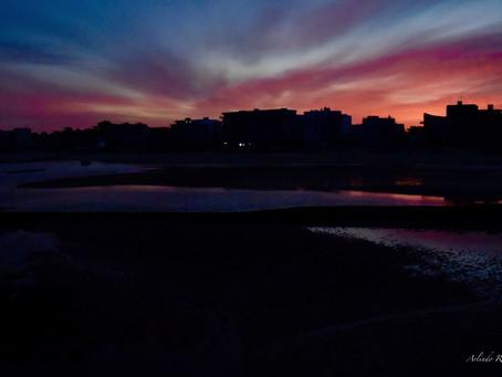Premier Lever du soleil du Déconfinement, plage de Pornichet La Baule