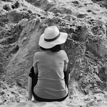 Je contemple cette magnifique plage de La Baule
