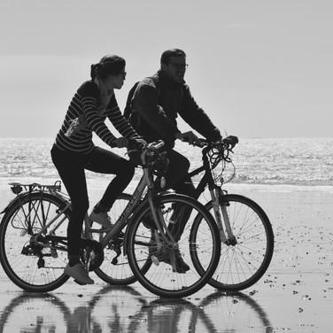 Balades en Amoureux à Bicyclette sur la plage /02