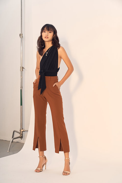 Front slitted culottes