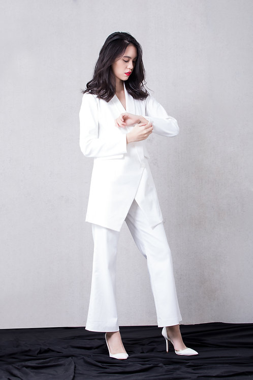 Wide leg pants - White