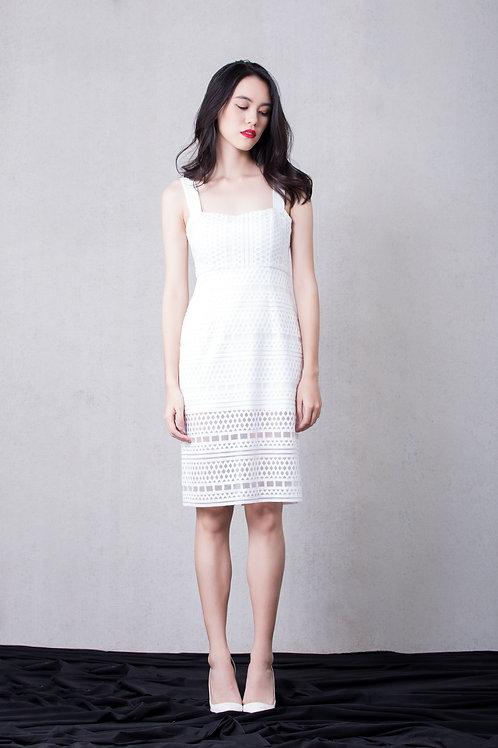 Square neck Lace dress