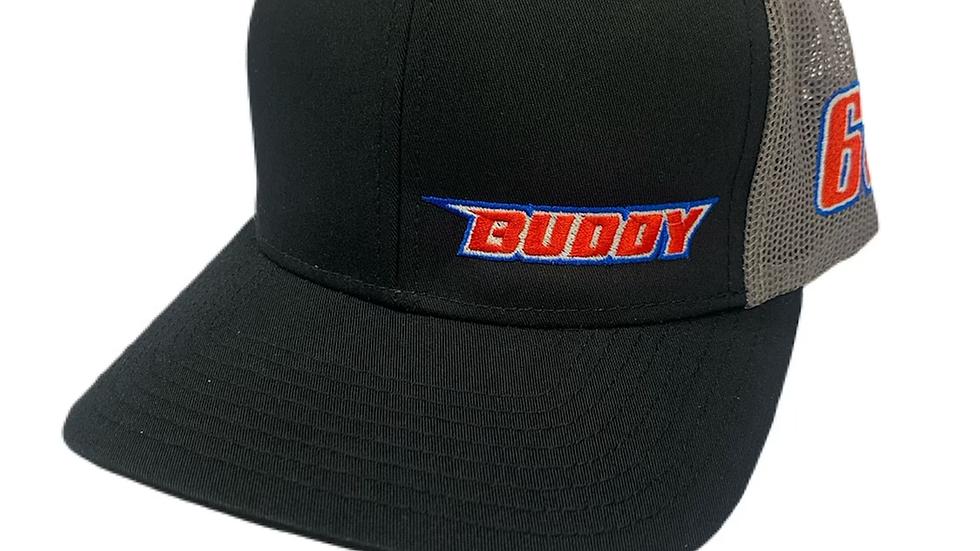 2021 Buddy Black/Gray Trucker Snapback Hat