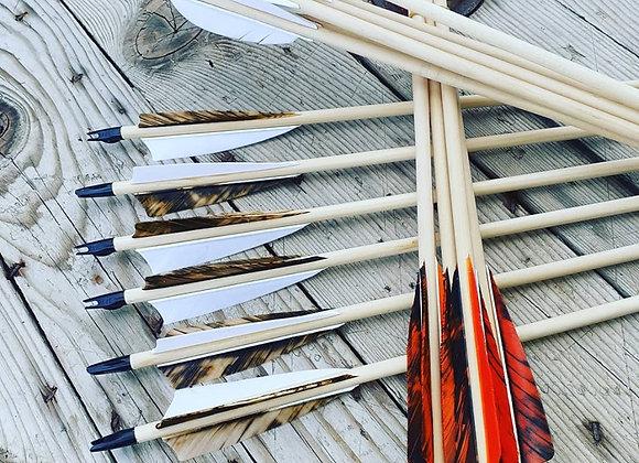 AIM Wood Arrows x 6