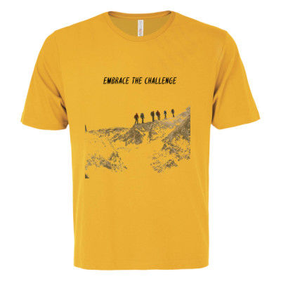 Embrace The Challenge Tee Gold