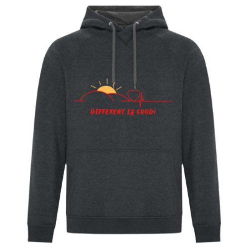 Different Is Good Heart Beat Hoodie