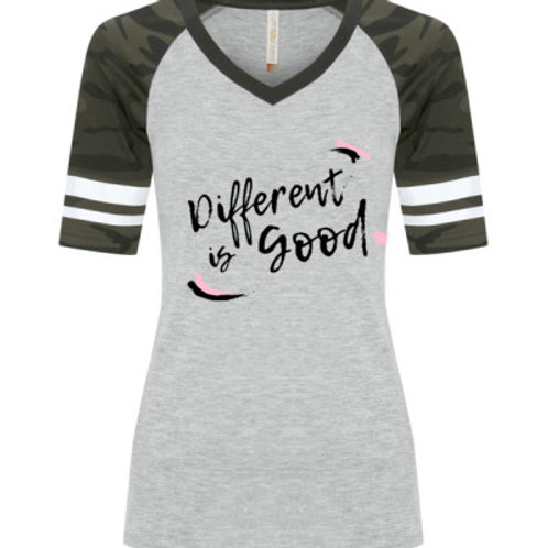 Wm Different Is Good Baseball Tee