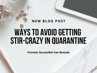 Ways to avoid getting stir-crazy during quarantine