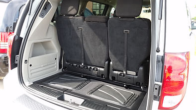 Plenty of storage space behind the bench seat in the side entry handicap accessible van