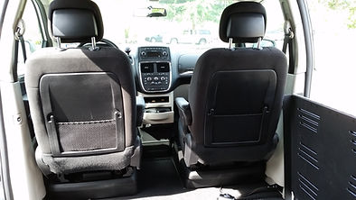 View from inside a side entry wheelchair accessible van