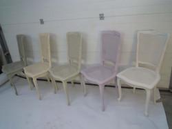 chaises après relooking