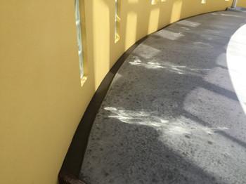 隙間モルタル塗り込み