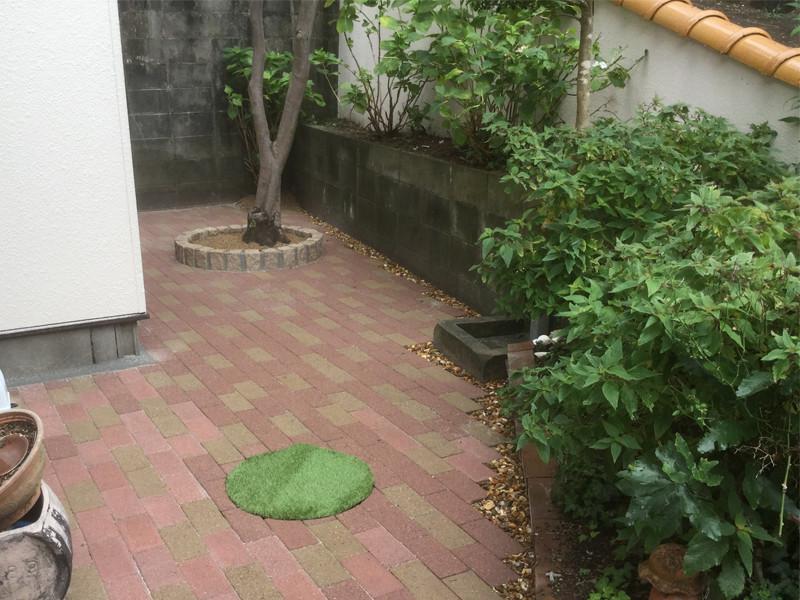 リフォーム後のレンガの庭2