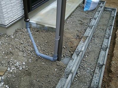 テラス排水管設置