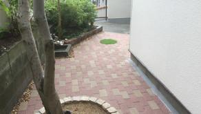 レンガで庭のリフォーム【奈良県生駒市 T様邸】