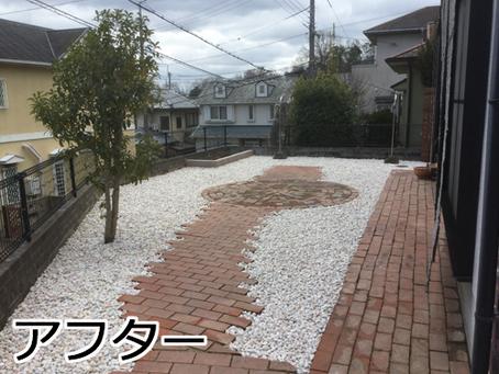 草引きを無くして洗濯物が干しやすいお庭【奈良県生駒市 H様邸】
