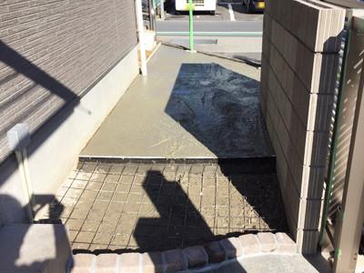 スロープ出入り口コンクリート