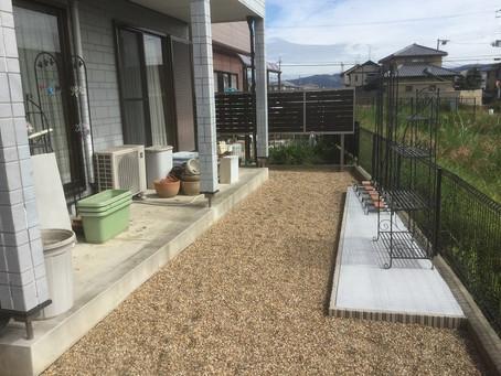 庭の雑草対策を砂利で行う事例【奈良県 H様邸】