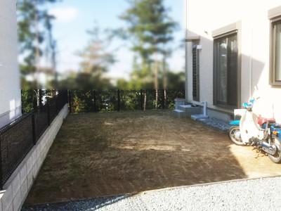 土の状態の庭