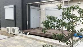 雑草対策と、おしゃれなお庭にリフォーム【テラス,エクステリア】