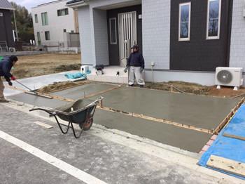 コンクリート打設作業