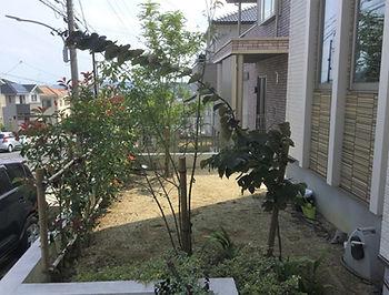 リフォーム前の土の庭.jpg