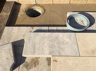 会所周りのコンクリート平板