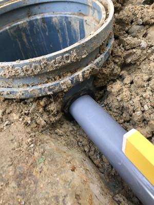 排水パイプ会所接続