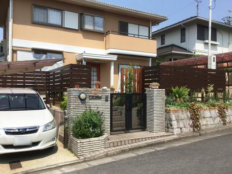 生垣をフェンスにする外構工事【奈良市Y様邸】