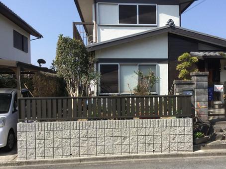 枯れた生垣をフェンスにする外構工事【奈良県大和郡山市で外構リフォーム】