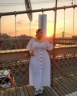 Catching the sunrise on the Brooklyn Bri