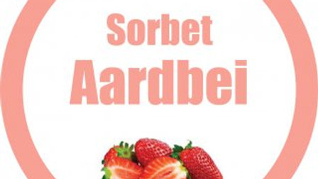 Sorbet aardbei (900ml)