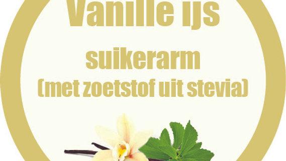 Vanille ijs: suikerarm met zoetstof uit stevia (1/2L)