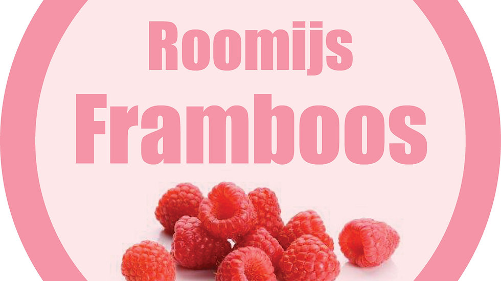 Roomijs framboos (500ml)