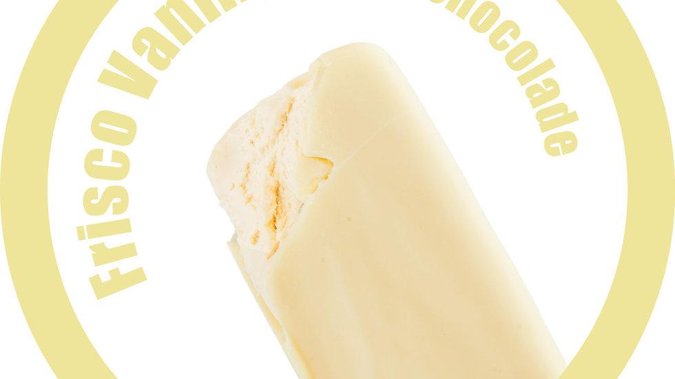 Frisco vanilleroomijs, witte chocolade (per 6 stuks)