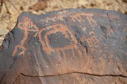 Rock engraving on Mount Karkom