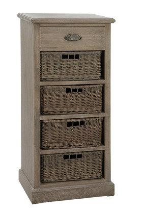 Cassettiera 4 Basket + Draw Wd Grey W (13421)