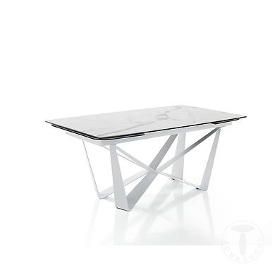 tavolo allungabile GRAM MATT WHITE MARBLE