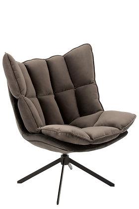 Sedia Relax Cushion On Frame Textile / Metal Grey (5323)