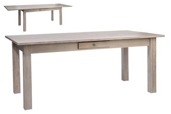 Tavolo Ra allungabile in legno Nat 180X90X79Cm (33457)