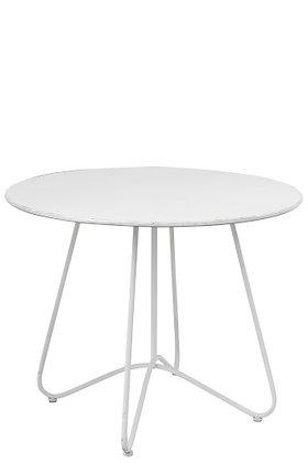 Tavolo rotondo in metallo bianco