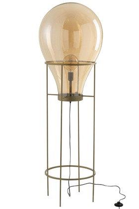 Lampada Mongolfiera Vetro / Metallo Oro Grande (96337)