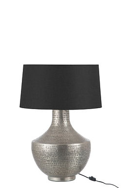 Lampada + Paralume Orientale Alluminio Argento (76791)